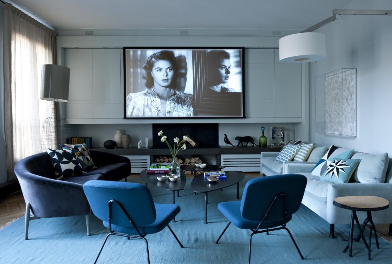 Deco salon bleu nuit: idées sur le thème murs bleu marine ...